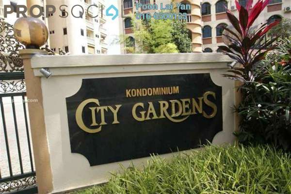 For Rent Condominium at City Gardens, Bukit Ceylon Leasehold Fully Furnished 3R/2B 3k