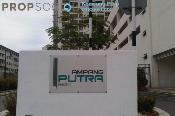 For Sale Condominium at Ampang Putra Residency, Ampang Leasehold Fully Furnished 3R/2B 600k