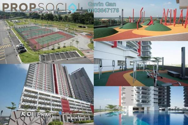 For Rent Serviced Residence at Koi Prima, Puchong Leasehold Semi Furnished 3R/2B 1.2k