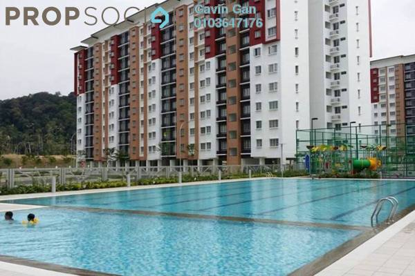 For Rent Apartment at Seri Jati Apartment, Setia Alam Freehold Fully Furnished 3R/2B 1.2k