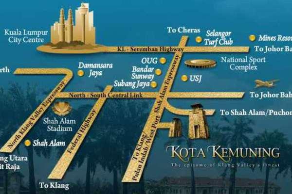 For Rent Townhouse at Lagoon Residences, Kota Kemuning Leasehold Unfurnished 4R/3B 3k