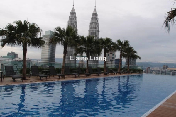 For Rent Condominium at Quadro Residences, KLCC Leasehold Semi Furnished 4R/5B 12k