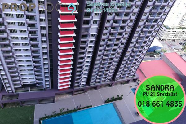 For Rent Condominium at Platinum Lake PV21, Setapak Freehold Semi Furnished 3R/2B 1.4k