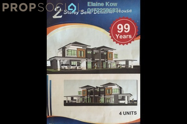For Sale Semi-Detached at Batu Kawa, Kuching Freehold Semi Furnished 5R/4B 1.2m