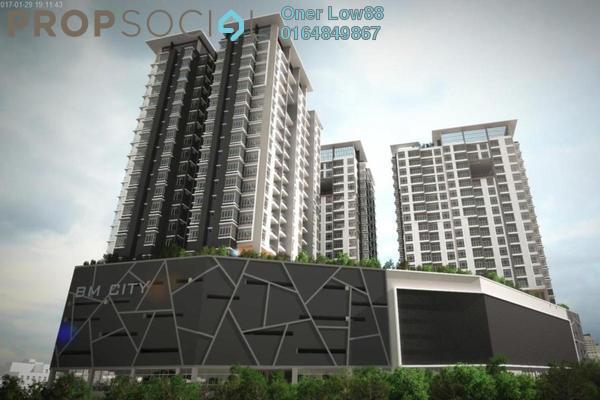For Rent Condominium at BM City Mall, Bukit Mertajam Freehold Semi Furnished 3R/3B 1.85k
