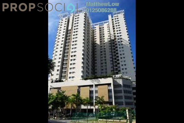 For Rent Condominium at Parkview Towers, Bukit Jambul Leasehold Semi Furnished 3R/2B 1.35k