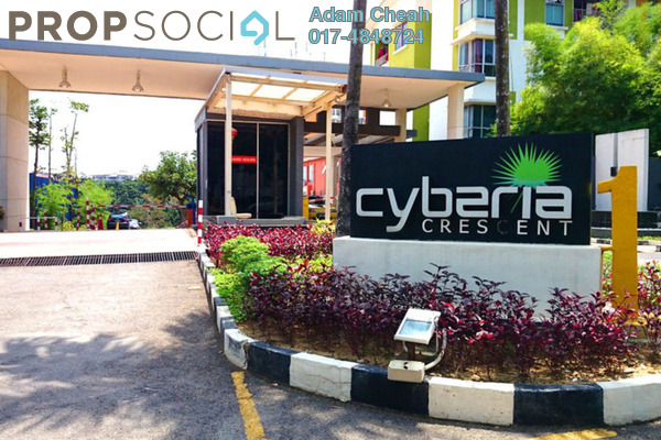 For Rent Condominium at Cyberia Crescent 1, Cyberjaya Freehold Fully Furnished 3R/2B 1.7k