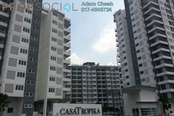 For Rent Condominium at Casa Tropika, Puchong Leasehold Semi Furnished 3R/2B 1.9k