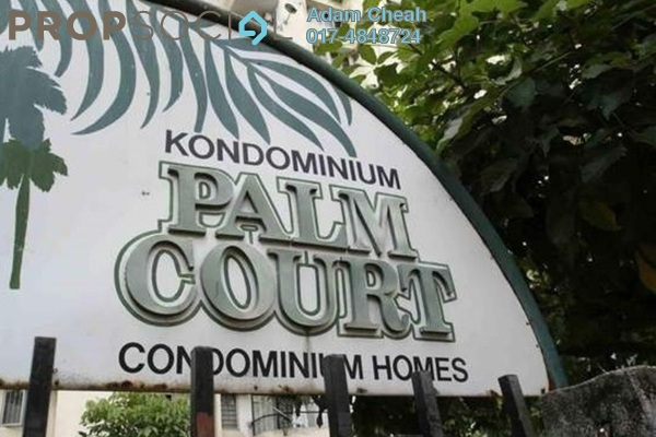For Rent Condominium at Palm Court, Brickfields Freehold Unfurnished 3R/2B 2.3k