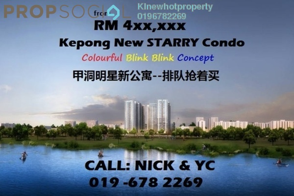 For Sale Condominium at The Henge Residence, Kepong Leasehold Unfurnished 3R/2B 445k