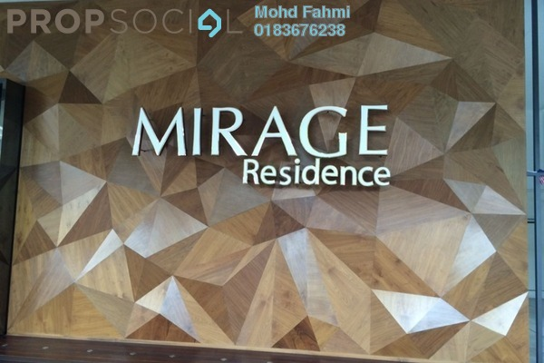 For Sale Condominium at Mirage Residence, KLCC Freehold Fully Furnished 2R/2B 2.25m
