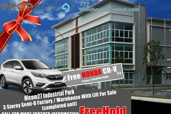 For Sale Factory at Hicom Glenmarie, Shah Alam Freehold Unfurnished 0R/0B 4.95m