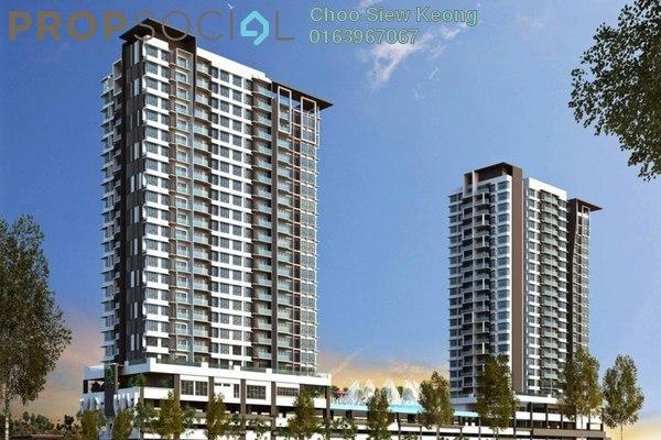 For Sale Serviced Residence at Twinz Residences, Bandar Puchong Jaya Freehold Unfurnished 3R/2B 560k