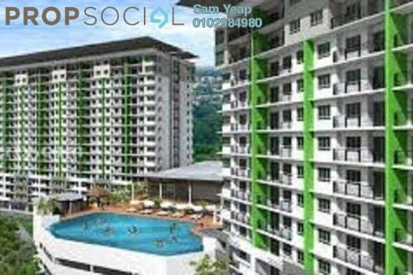 For Rent Condominium at Panorama Residences, Sentul Freehold Semi Furnished 3R/2B 1.5k