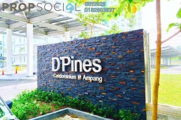For Rent Condominium at D'Pines, Pandan Indah Leasehold Semi Furnished 3R/2B 1.7k