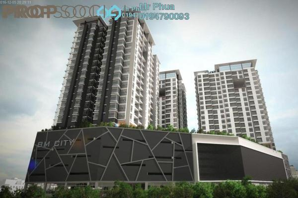 For Rent Condominium at BM City Mall, Bukit Mertajam Freehold Semi Furnished 3R/2B 1.5k