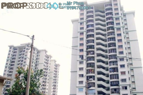 For Rent Condominium at Taman Kristal, Tanjung Tokong Freehold Semi Furnished 3R/2B 1.1k