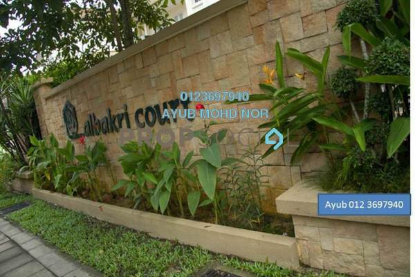 For Rent Condominium at Albakri Court, Ampang Hilir Freehold Semi Furnished 4R/3B 6k