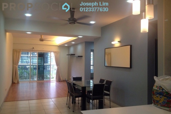 For Rent Condominium at Rosvilla, Segambut Freehold Semi Furnished 3R/2B 1.6k