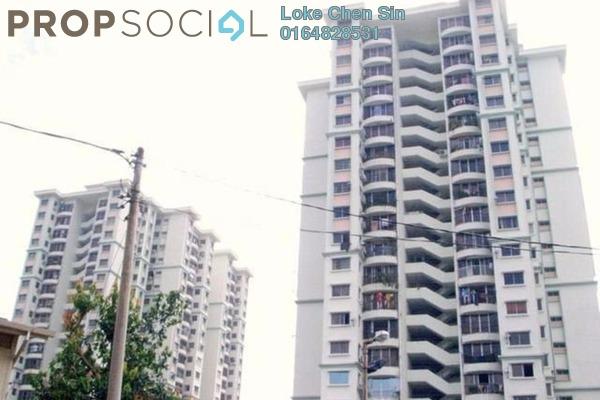 For Rent Apartment at Taman Kristal, Tanjung Tokong Freehold Semi Furnished 3R/2B 1.2k