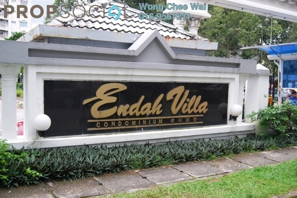 For Sale Condominium at Endah Villa, Sri Petaling Freehold Semi Furnished 3R/2B 420k