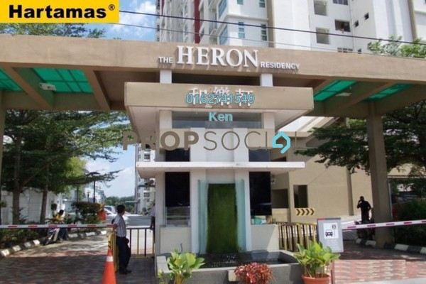 For Sale Condominium at The Heron Residency, Puchong Leasehold Unfurnished 3R/2B 355k