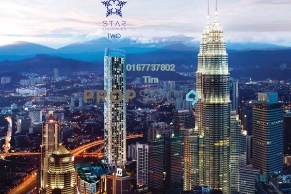 For Sale Serviced Residence at Star Residences, Kuala Lumpur Leasehold Semi Furnished 1R/1B 1.4m