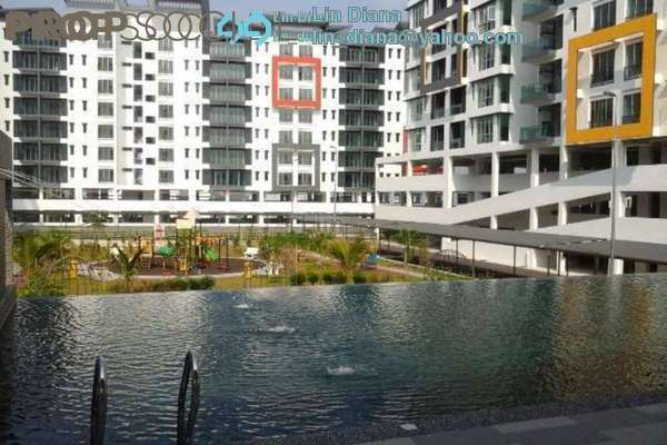 For Rent Condominium at Mahkota Garden Condominium, Bandar Mahkota Cheras Freehold Semi Furnished 4R/3B 2.2k