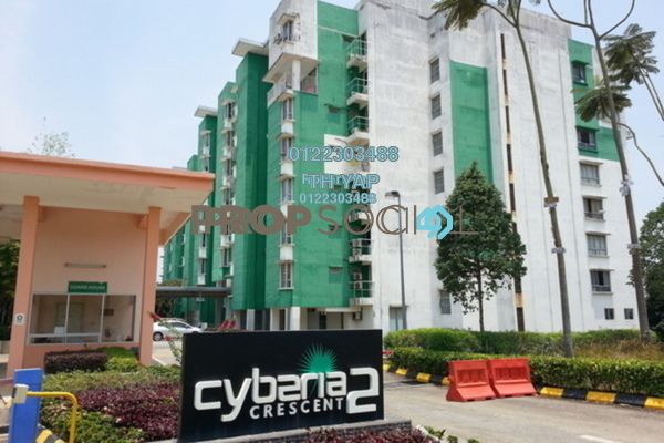 For Rent Condominium at Cyberia Crescent 2, Cyberjaya Freehold Fully Furnished 3R/2B 1.3k