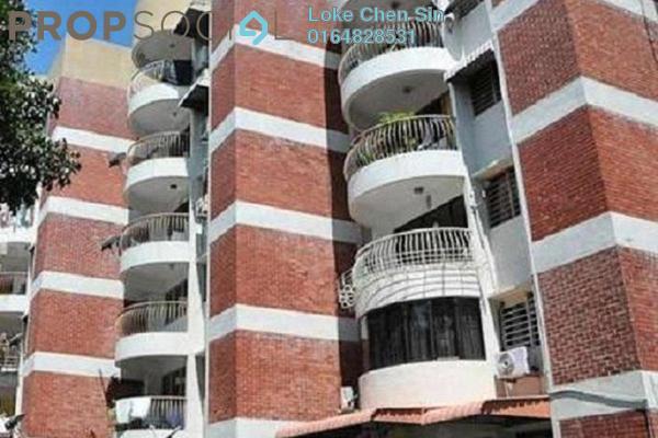 For Rent Apartment at Taman Kampar Apartment, Georgetown Freehold Semi Furnished 2R/1B 1k