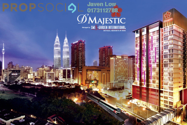 For Sale Condominium at D'Majestic, Pudu Freehold Fully Furnished 0R/1B 830k