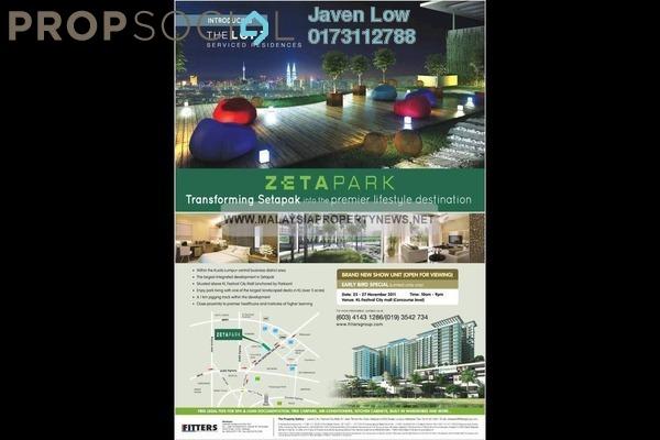 For Sale Condominium at The Loft @ ZetaPark, Setapak Leasehold Unfurnished 3R/2B 699k