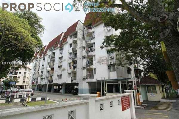 For Sale Condominium at Teratai Mewah Condominium, Setapak Freehold Semi Furnished 3R/2B 380k