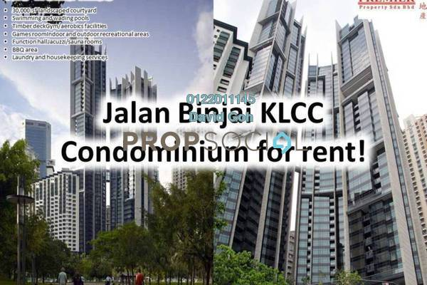 For Rent Condominium at The Troika, KLCC Freehold Fully Furnished 5R/5B 16k
