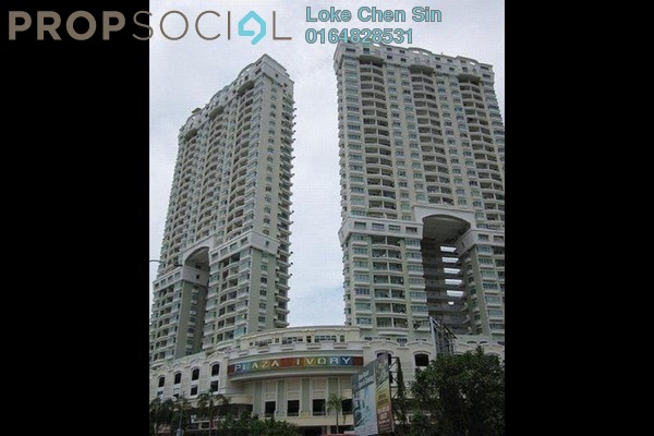For Rent Condominium at Plaza Ivory, Bukit Gambier Freehold Fully Furnished 3R/2B 1.55k