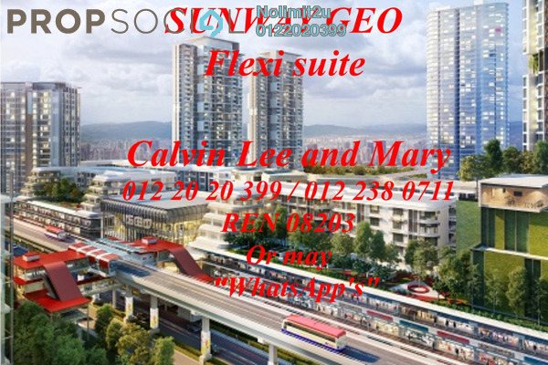 For Rent Office at Sunway GEO Retail, Bandar Sunway Leasehold Unfurnished 1R/1B 1.5k
