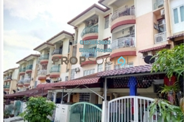 For Sale Townhouse at Taman Lagenda Mas, Cheras South Freehold Semi Furnished 3R/2B 450k