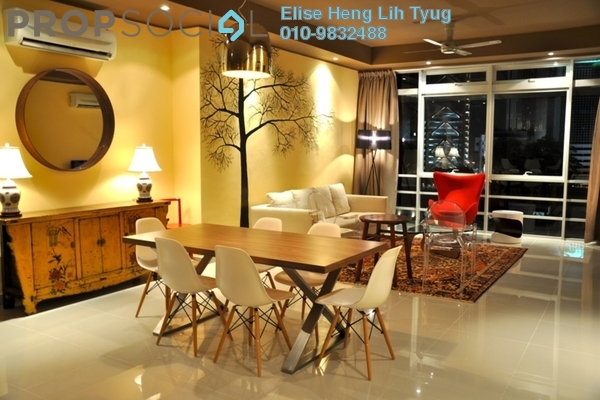 For Rent Condominium at One Residency, Bukit Ceylon Freehold Fully Furnished 2R/2B 3.7k