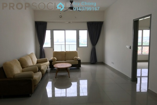 For Rent Serviced Residence at The Wharf, Puchong Leasehold Semi Furnished 3R/2B 1.3k