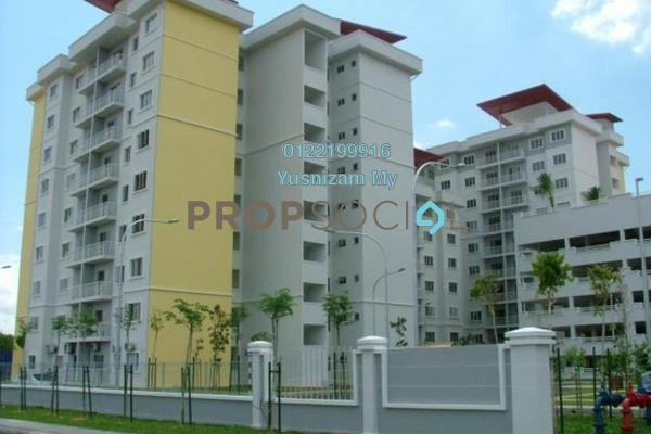 For Sale Apartment at Kristal Heights, Shah Alam Leasehold Semi Furnished 3R/2B 437k