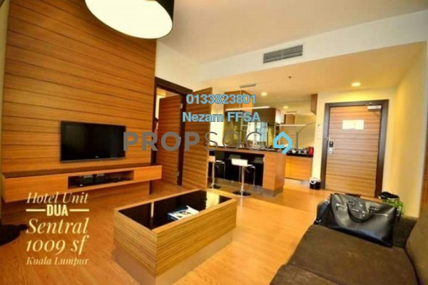 For Sale Serviced Residence at Dua Sentral, Brickfields Freehold Fully Furnished 2R/2B 950k