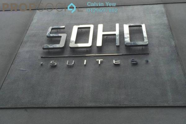For Rent Office at Soho Suites, KLCC Freehold Semi Furnished 1R/1B 2.6k