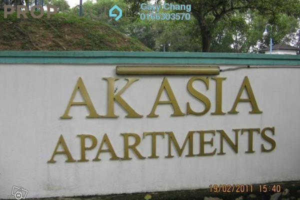For Rent Apartment at Akasia Apartment, Pusat Bandar Puchong Freehold Semi Furnished 3R/2B 1.2k