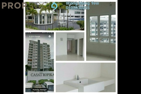 For Sale Condominium at Casa Tropika, Puchong Leasehold Semi Furnished 3R/2B 495k