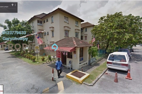 For Sale Apartment at Indah Apartments, Setapak Freehold Semi Furnished 3R/2B 280k