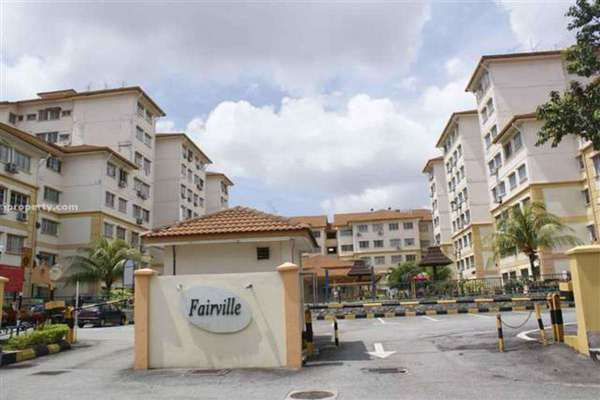 For Rent Apartment at Fairville, UEP Subang Jaya Leasehold Semi Furnished 3R/2B 1.25k