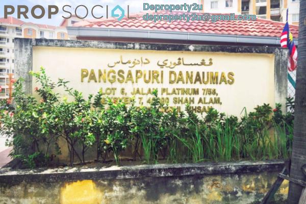 For Sale Apartment at Danaumas Apartment, Shah Alam Leasehold Semi Furnished 3R/2B 320k