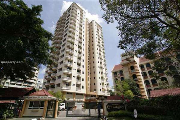For Rent Condominium at City Gardens, Bukit Ceylon Leasehold Fully Furnished 3R/2B 2.45k