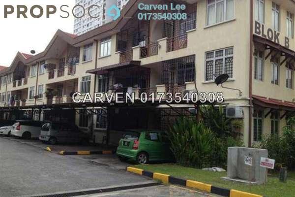 For Sale Townhouse at Pinggiran Cempaka, Pandan Indah Leasehold Semi Furnished 3R/2B 399k
