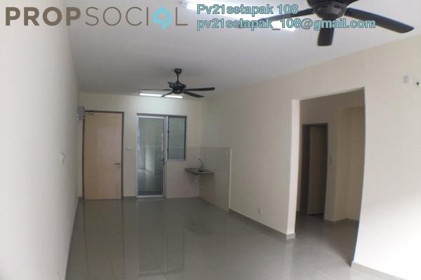 For Rent Condominium at Platinum Lake PV21, Setapak Freehold Semi Furnished 2R/2B 1.2k